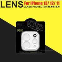 Protetor de lente de vidro temperado para iPhone 13 12 mini pro máximo iPhone 11 XR XS Max telefone câmera protetora filme de vidro com caixa de varejo
