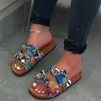 Butterfly-knot Flip-flops Woman Shoes Snake Print Flat Open Toe Slipper Woman Casual Beach Shoe Slippers Zapatos De Mujer n7AC#