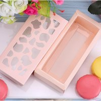 Pastry Hollow Out Storage Paper Box Solid Color Gift Package Rectangle Boxes Macaron Cake Chocolate Case Kitchen Home Supplies GWE10441