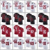 2020 Neue 10 Jimmy Garoppolo 2020 Trikots 97 Nick Bosa 85 George Kittle 80 Jerry Rice 56 Reuben Foster 16 Joe Montana Football Trikots