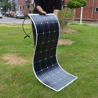 Dokio 12V 100W مرنة أحادية السطحية لوحة للطاقة الشمسية لسيارة / قارب / بطارية الشمسية المنزلية يمكن شحن 12 فولت لوحة للطاقة الشمسية للماء الصين LJ200831