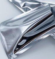 500 قطع 6 * 9 سنتيمتر صغير مفتوحة الفضة الألومنيوم احباط أكياس الحرارة ختم فراغ الحقائب حقيبة المجففة الغذاء مسحوق التخزين mylar احباط أكياس التعبئة 85 S2