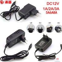 100 pz / lotto AC 100 V - 240V a DC 12V 1A 2A 3A 5A 6A 6A 8A Trasformatori di illuminazione alimentatore per 5050 3528 5630 Striscia LED CCTV US UE UK AU