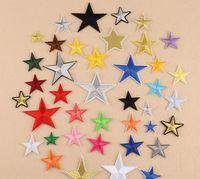 Cinco puntiagudo Star Pasta Pastilla de parche Accesorios Zapatos y sombreros Parches Applique Plancha Plancha APPLIQUE APLICACIÓN CAMPO Tela y Costura 42 S2