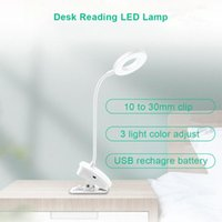 Table Lamps Clip Desk Lamp Flexible Neck Light Night Study Reading USB Rechargeable Touch Dimming