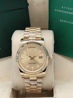 Neutral mechanical watch for both men and women, 36mm, dual calendar.2813 movement, 316 fine steel, motion