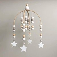 Nordic Wind Hair Ball Wooden Beads Wind Chimes Children'...