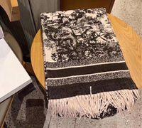 2021 클래식 디자인 스카프 남성 여성용 캐시미어 100 % 캐시미어 스카프 스카프 큰 편지 패턴 Pashminas Shawls 스카프
