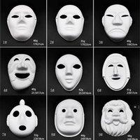 Makyaj Dans Beyaz Maskeleri Embriyo Kalıp DIY Boyama El Yapımı Maske Hamuru Hayvan Cadılar Bayramı Festivali Parti Maskeleri Beyaz Kağıt Yüz Maskesi HWF9354
