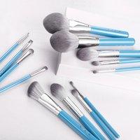 MyDestiny makeup brush  The Iris series 13pcs high quality synthetic hair brushes set-powder blush foundation eyeshadow beauty