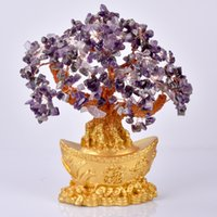 Kristal Fortune Ağacı Süs Servet Çin Altın Külçe Ağacı Şanslı Para Ağacı Süs Ev Ofis Dekorasyon Masa Örtüsü 749 K2