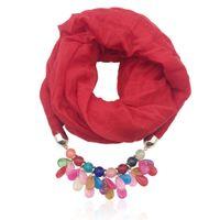 шарфы акриловые многоцветные смолы кулон ювелирные украшения декольте женские шал ожерелье национальный стиль шарф