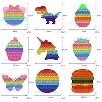30*30CM Bubble Fidget Toys Rainbow New Large Bubbles Sensory Silicone Puzzles Squeeze Pop Desk Toy