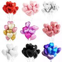 10pcs definir 18 polegadas multi rosa ouro coração balões balão de hélio decorações festa de aniversário crianças adultos casamento dia dos namorados balões
