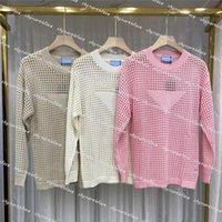 Designer da donna Abbigliamento Abbigliamento per maglieria Abbigliamento per maglieria Maglietta Top Donne Maglione Shirt Knit Show Out Maniche lunghe Felpa con cappuccio pullover