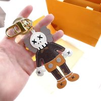 letter leather keychains car fashion key ring lanyard cute wallet rope chain portachiavi with box