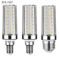 Bulbs CHCLITS E27 LED Lamp E14 Bulb SMD2835 AC 220V 12W 16W Corn 60 80 LEDs Chandelier Candle Light For Badroom