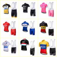 Paso rápido Equipo Ciclismo Mangas cortas Jersey BIB Shorts Sets Hombres Bike Ropa Alta Calidad Verano Bicicleta Deportes Uniforme U80607