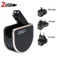 자동차 충전기 담배 라이터 2400mA PC + ABS 변경 플러그 2 포트 USB-A 휴대용 자동차 충전기 100 ~ 240V 5C 2.4A