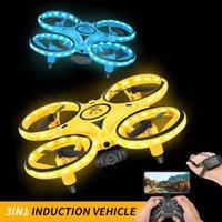 Drones Kakbeir UFO RC Drone Mini Induction infrarouge Contrôle de la main de la main Altitude Tenir 2 contrôleurs Quadcoptère pour enfants cadeau de jouet pour enfants