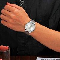 Armbanduhren Wwoor Top Luxusuhr Männer Marke Männer Uhren Ultradünne Edelstahl Meshband Quarz Armbanduhr Mode Lässig