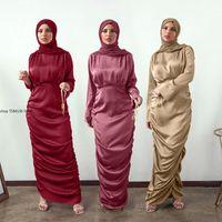Ethnic Clothing Kaftan Dubai Abaya Turkey Femme Arabic Hijab Muslim Fashion Robe Satin Dress African Dresses Abayas For Women Islamic