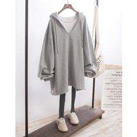 Women Zipper Long Hoodies Oversize Sleeve Hoodie Turn-down Collar Autumn Sweatshirt Pullover Tops Winter Coat LJJA3079 Lapel Outwe Qmvbt