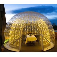 Inflatable Dome Tent Bubble House Canopy Tents Transparent Domes 3.5m with Optional Lights for Camping Family Party Outdoor Event