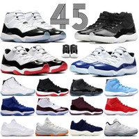 11 Scarpe da basket Platinum Tint Concord 45 Cap and Gown PRM Bred Heiress Gym Red Space Jams 11S Uomo Sport Sneakers 5.5-13
