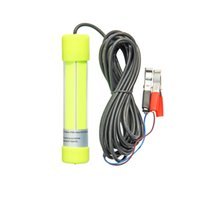 6M Cable COB 12V Blue Green White 8W 20W LED Spoon Minnow Fishing Lure Fly Fishing Bait Lights