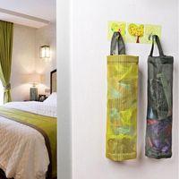 Hanging Baskets Home Kitchen Mesh Organizer Grocery Bag Holder Wall Mount Storage Dispenser Plastic RRD7724
