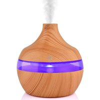 Essential Oils Diffusers Oil Diffuser 300ml Wood Grain Aroma Cool Mist Humidifier With 7 LED Colors For Home