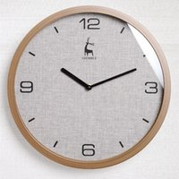 Wall Clocks Creative Fabric Mute Living Room Household Punch-free Watches Fashion Nordic Simple Modern