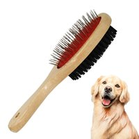 Double Sided Pet Grooming Groomer Cat Dog Hair Fur Bristle Soft Brush Comb R9JC