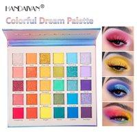 HANDAIYAN 30 COLORES Glitter Eye Shadow Paleta colorido sueño pigmentado brillante polvo mate luminoso ojos maquillaje
