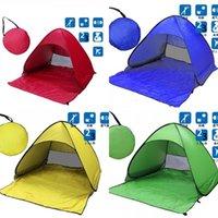 Strandzelt Ultraleicht Klappzelt Pop Up Automatische Offene Zeltfamilie Touristische Fische Camping Anti UV Voll Sonnenschirm 5 Farben 273 x2