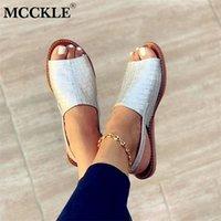 MCCKLE Women's Sandals Summer Female Slippers Flat Woman Peep-toe Comfort Slip-on Sandalias Casual Shoes Slingback 210610