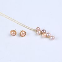 Elegent Natural Freshwater Pearl Button Shape Beads Necklace...