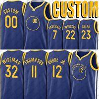 Custom Basketball Kelly Stephen Oubre Curry Jr Jersey Andrew Wiggins Klay Draymond Thompson Jerseys Eric James Paschall Wiseman Jersey