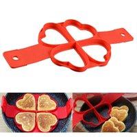 Ei Pancake Ring Silikon Nicht Stock Pancake Maker Form Kochen Ei Omelette Form Werkzeug Flip Ring Eierkocher Gebratener Shaper Omelett Formen