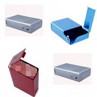 Étui de cigarette d'ouverture de l'aluminium Portable Couleur Solide Rectangle Mode Métal Packet Accessoires de haute qualité 8 4by J2