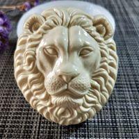 DW0137 Przy Animals Lion Head Molde de silicona Molde de jabón Hecho A Mano Hecho A Mano Hecho Moldeos Vela Molde de Silicona Resina Molde de arcilla 210225