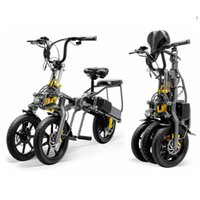 3 Wheel Electric Bicycle E Bike Scooter One Key Folding 14 Inch Tire Aluminum Alloy Frame Lithium Battery Special Design Y0913