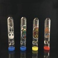 Dicke Pyrex-Glas ein Hitterfiliter-Tipp-Fledermaus-Zigarettenhalter-Glas-Dampfer-Rohr für Tabak-Trockenkräuter-Handraucherpfeife mit Schädel