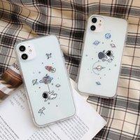 크리 에이 티브 우퍼 맨 행성 별이 빛나는 스카이 전화 케이스, 아이폰 11 12 프로 최대 12 미니 X XS XR 7 8 플러스 투명한 소프트 TPU 실리콘 드롭 증명 사용자 정의