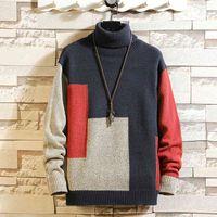 Men's Sweater Turtleneck Pullover Fashion Designer Mens Long Sleeve Sweats Ropa De Hombre Plus Size 5x