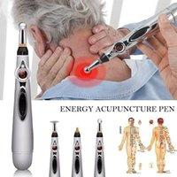كامل الجسم مدلك صحي الوخز بالإبر الإلكترونية القلم خطوط الطول الكهربائي العلاج بالليزر علاج تدليك ميريديان أدوات آلام إغاثة الطاقة