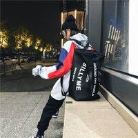 Viagem portátil Masculina Street Trend Um ombro Cruz Sling Lona Backpack Fitness Mulheres Grande Capacidade Bagagem Saco YP7A