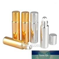 Botellas de almacenamiento Frascos 30 unids / lote 5ml 10ml Vacíe la botella de aceite de oro brillante de oro de alta clase, botella de embalaje de perfume de gama de bricolaje, eyedecrea