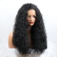 2021 свободные вьющиеся вьющиеся безразличники передних париков для женщин человеческих волос парики с детским волосами 24 дюйма натуральные черные кружевные парики горячие продажи